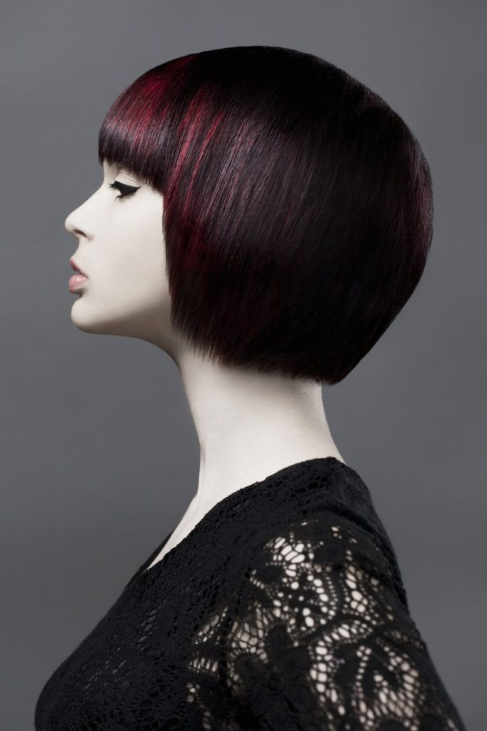 highlights for black hair red