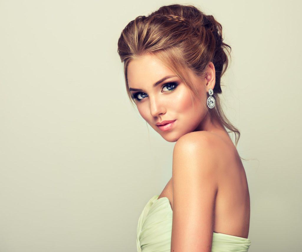 pageant hairstyles piece-y updo