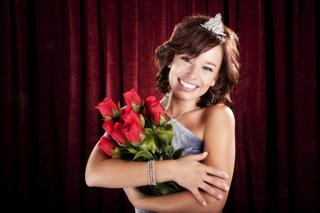 pageant hairstyles short volumized brunette