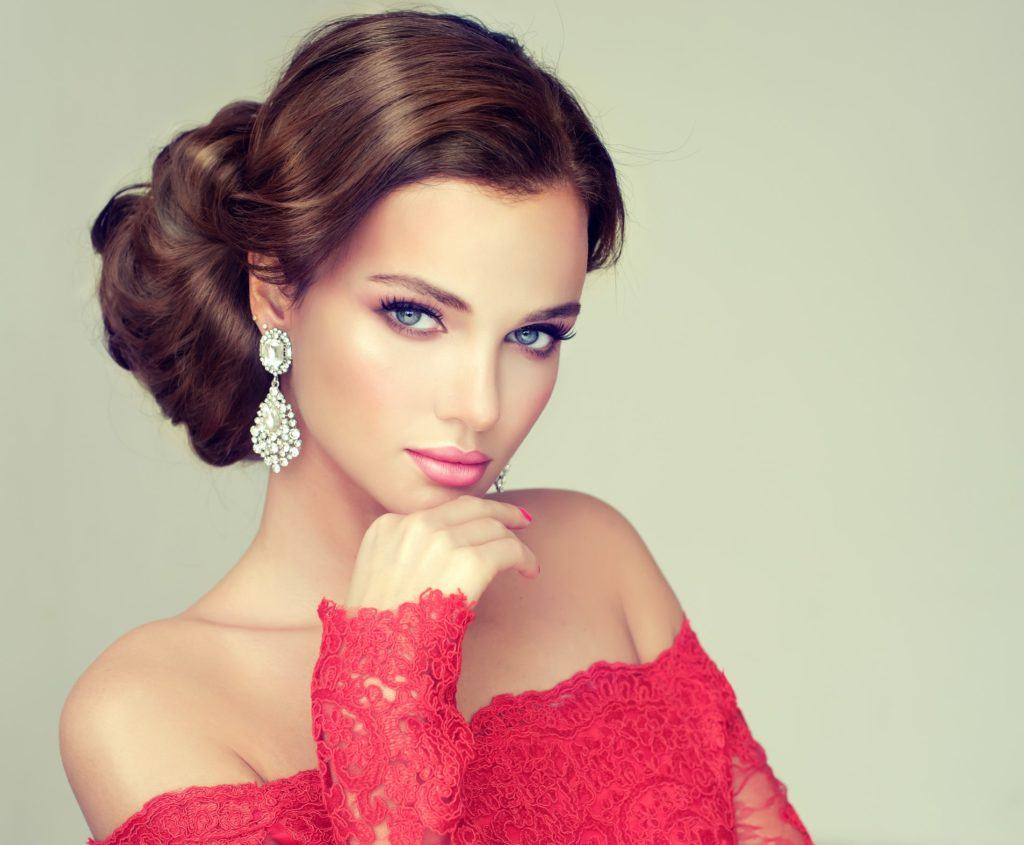 pageant hairstyles side updo volume brunette