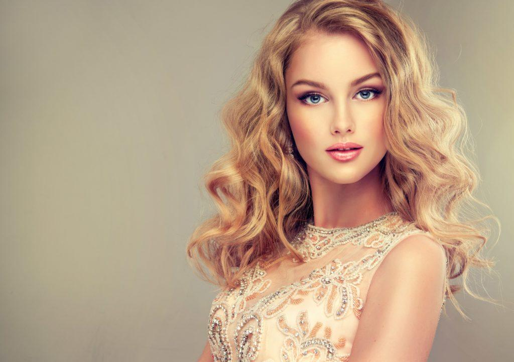 pageant hairstyles teased blonde curls