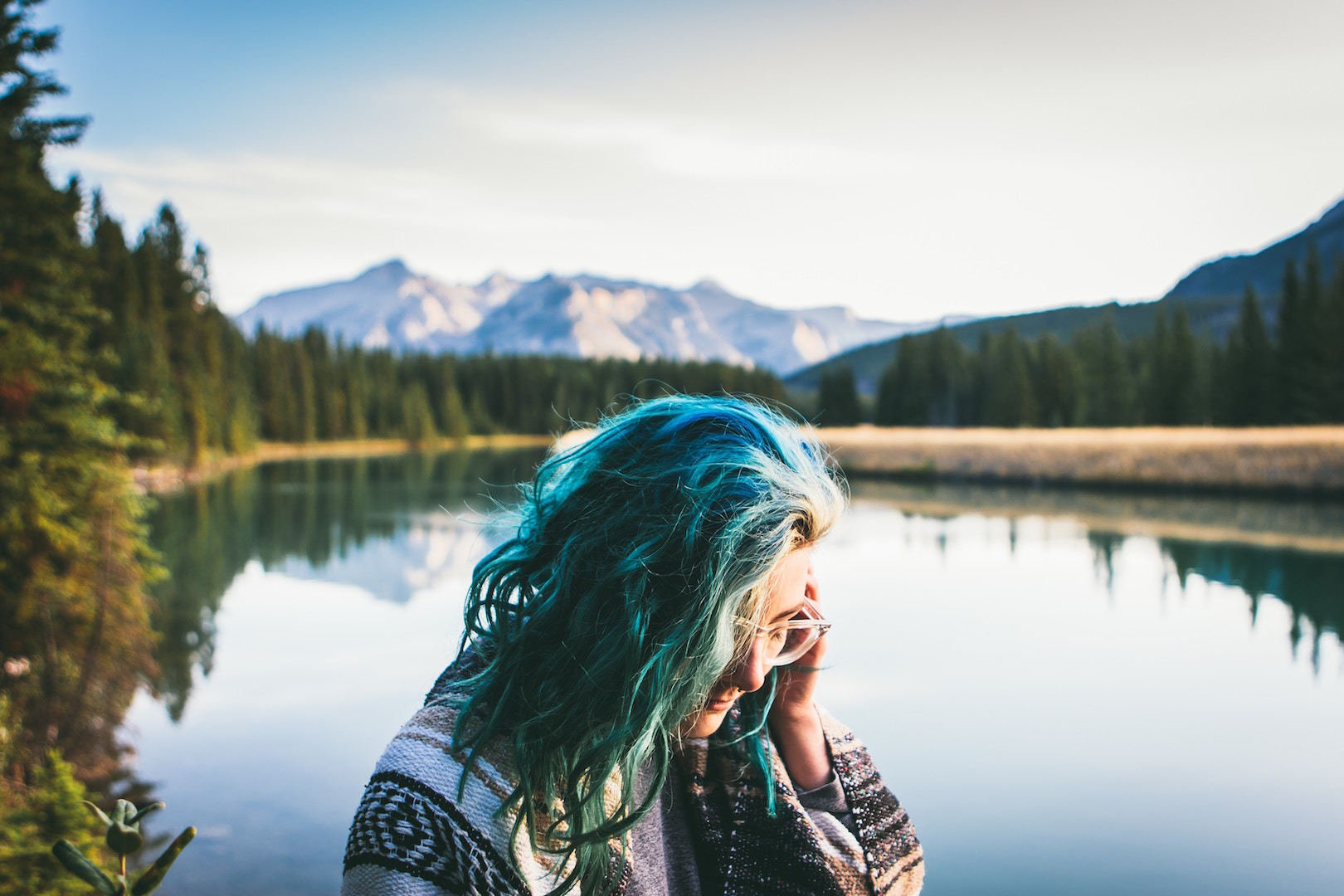 denim hair color: waves