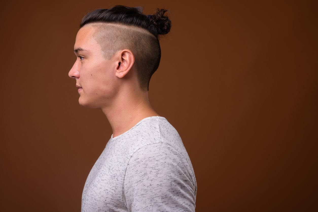 disconnected undercut: man bun