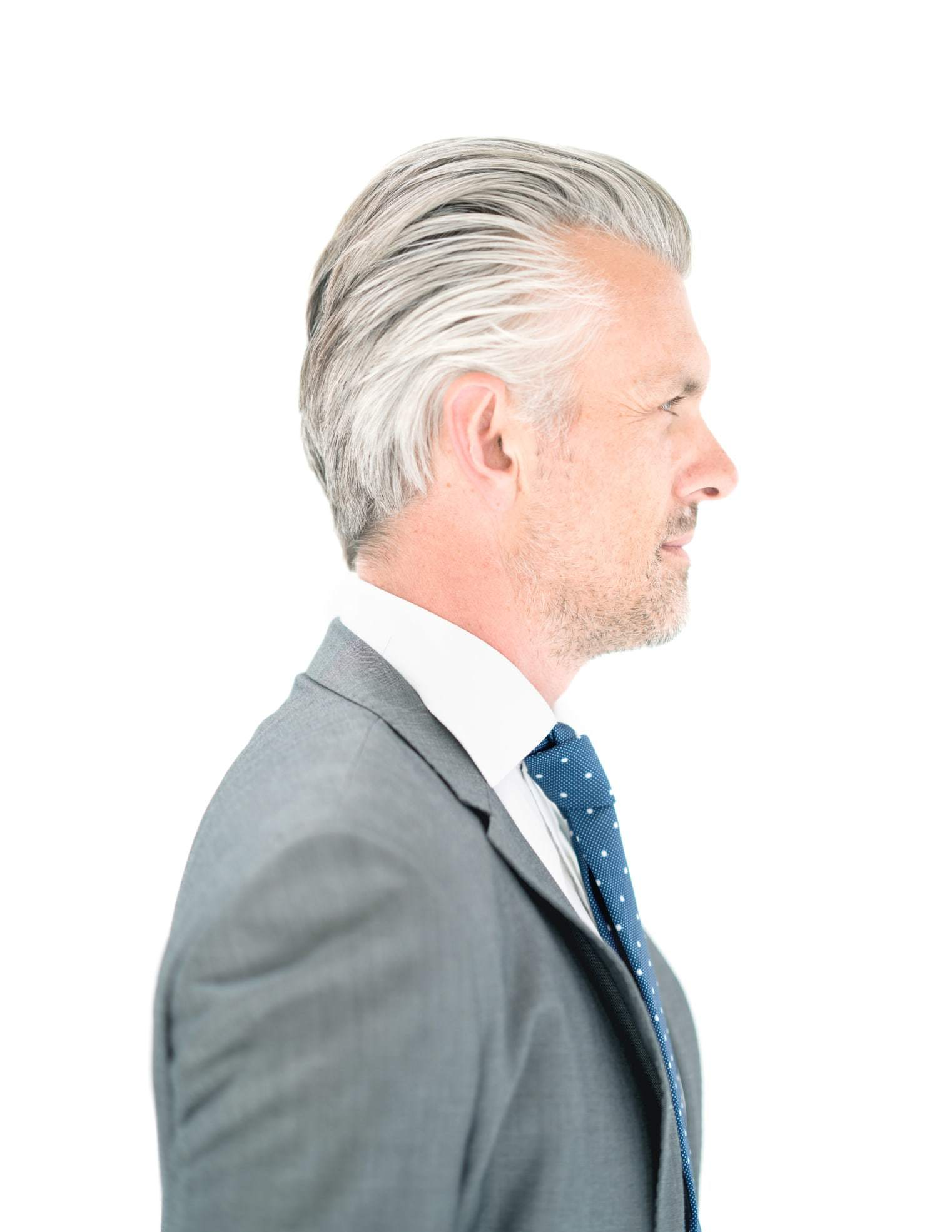 Charming ... Hairstyles For Men Over 50 Slicked Back White