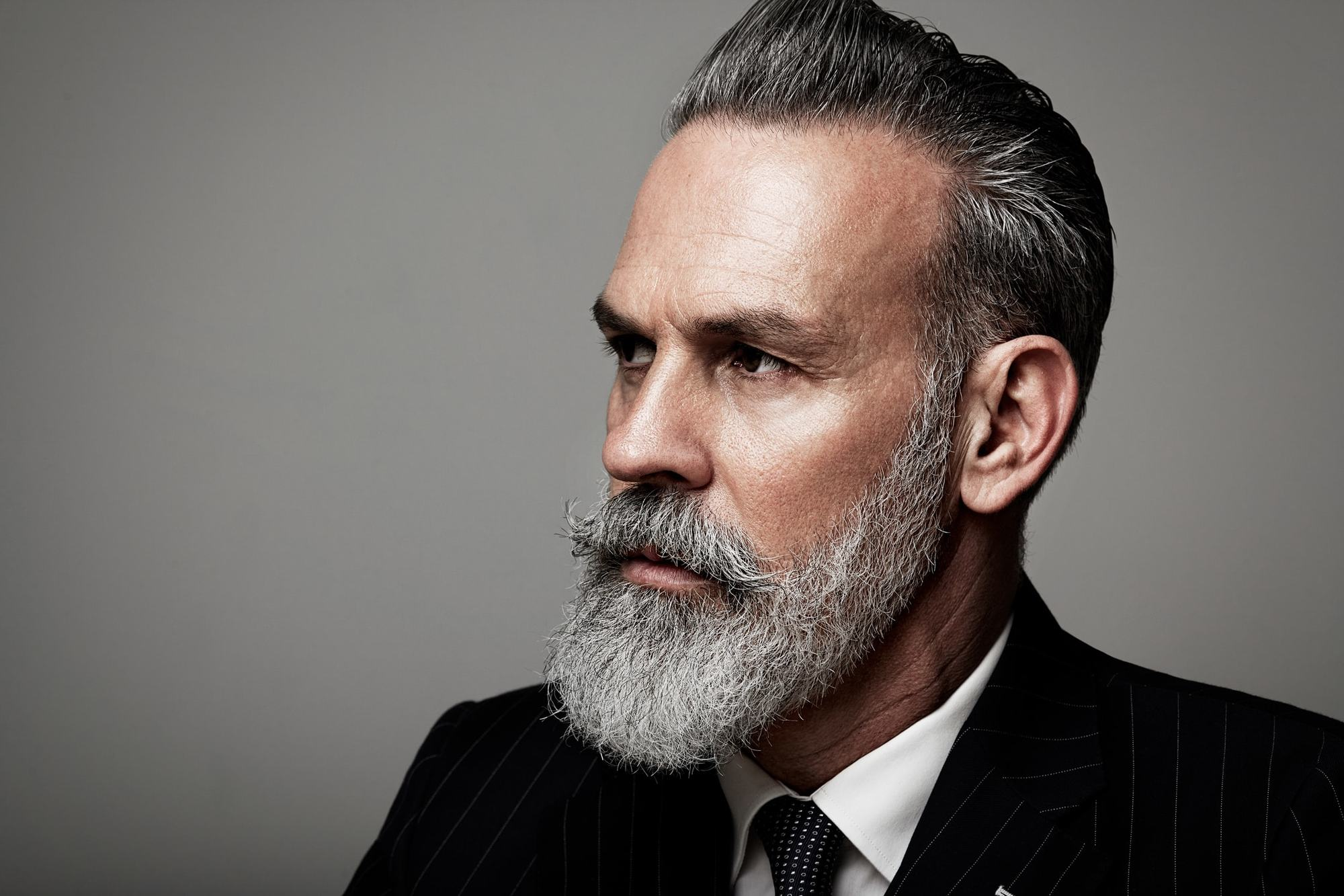 Attractive Hairstyles For Men Over 50 Styled Beard Hair Gel