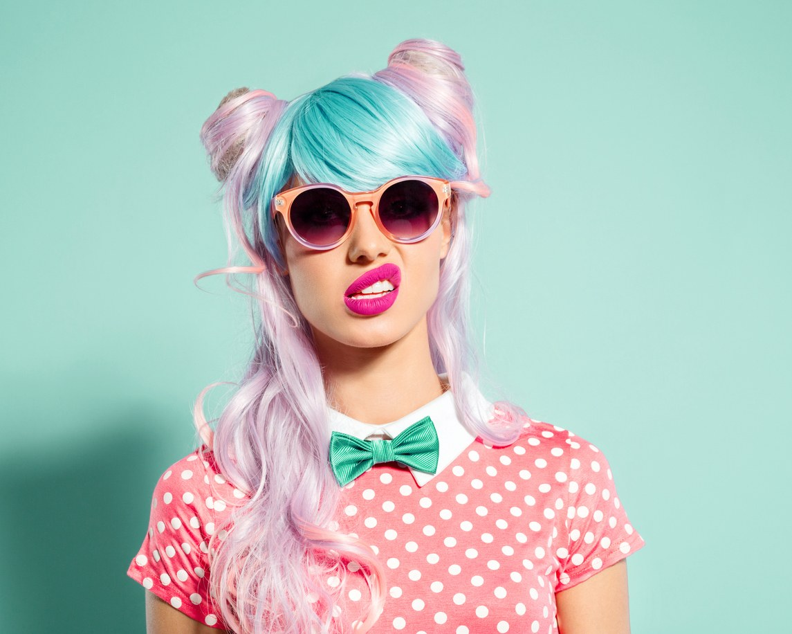 club hairstyles pastel colors