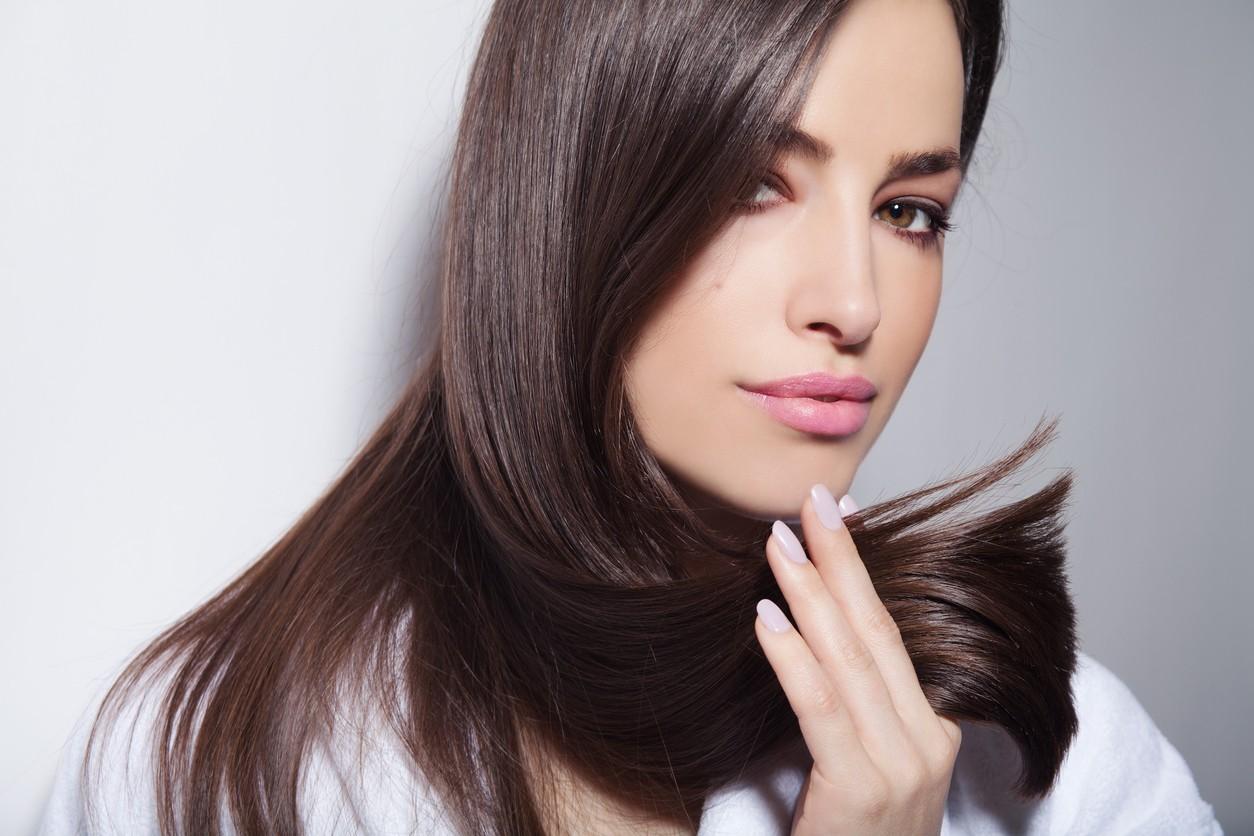 gloss hair treatment girl healthy hair