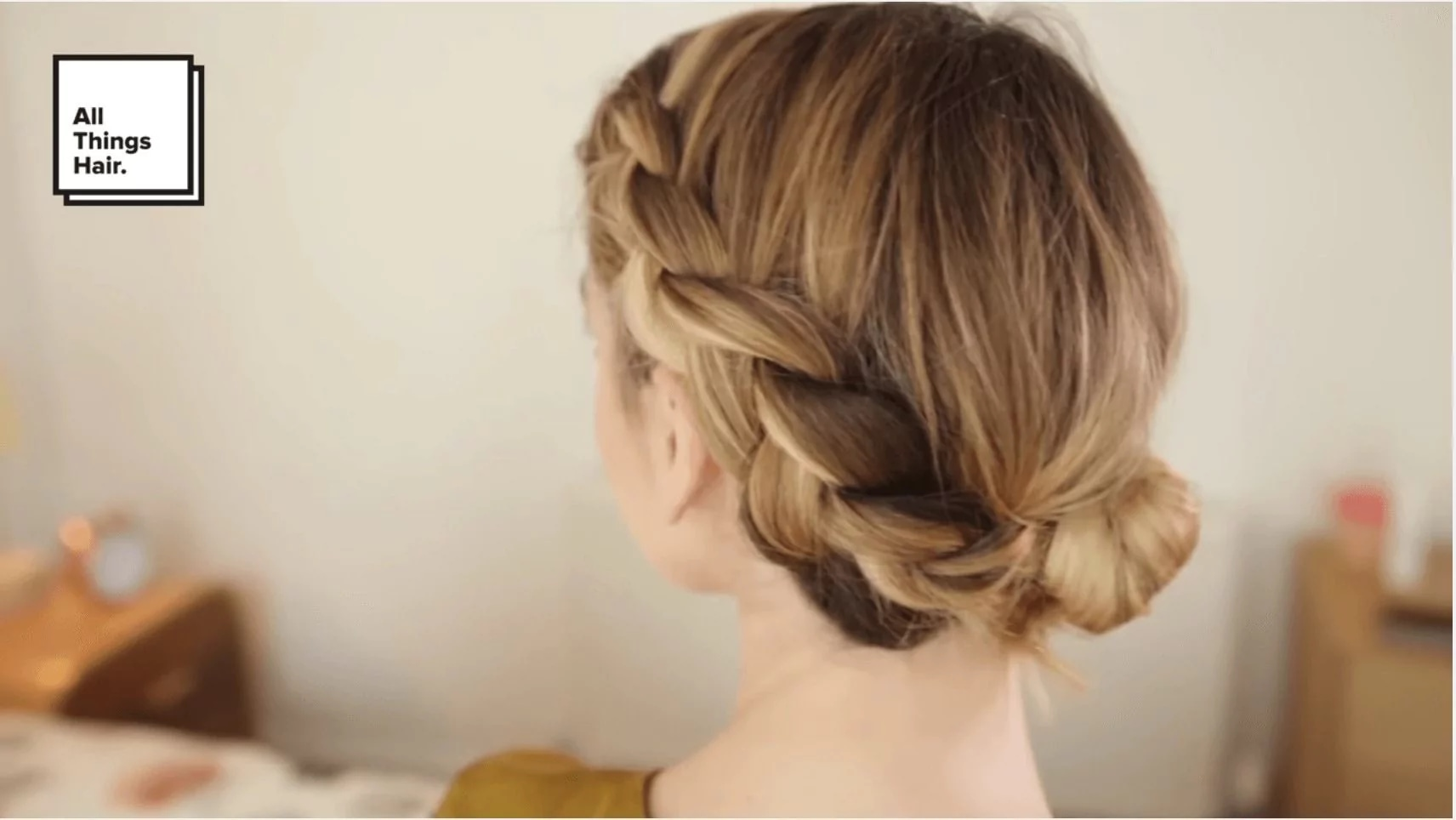 professional hairstyles for long hair halo braid