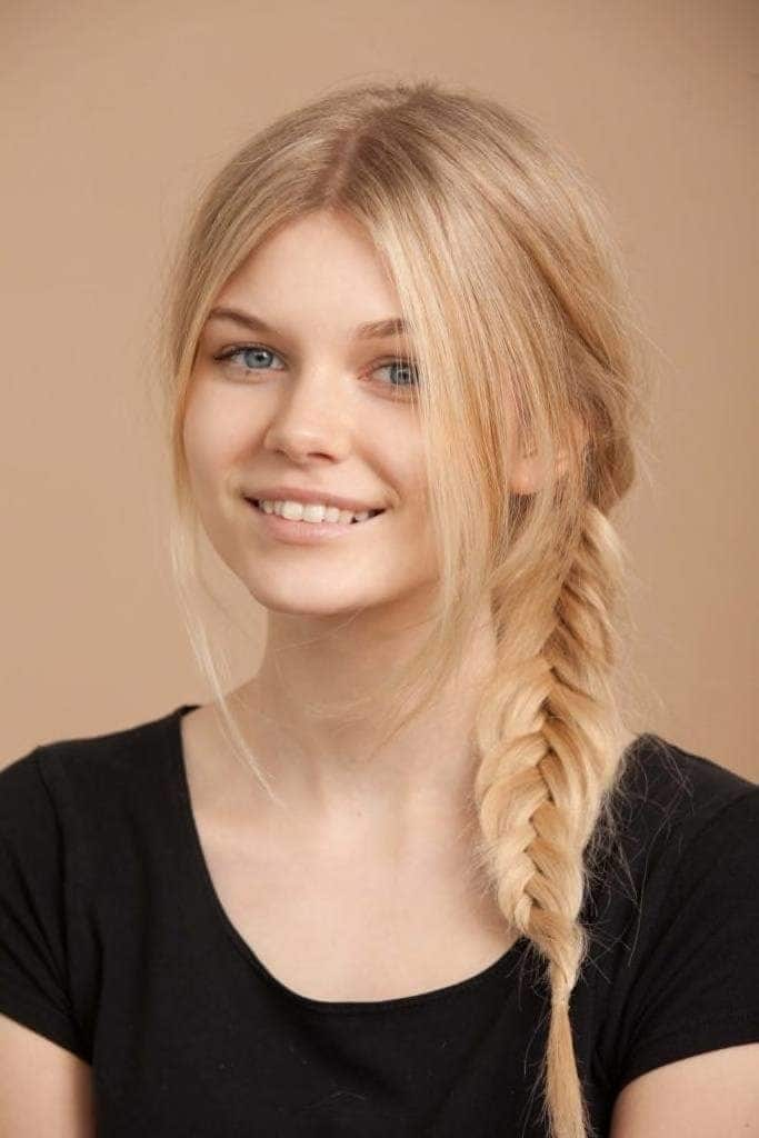 professional hairstyles for long hair fishtail braid