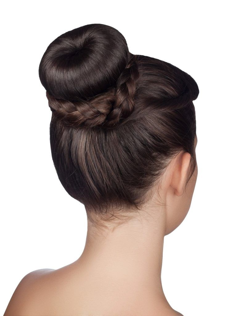 professional hairstyles for long hair braided sock bun