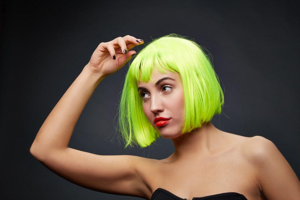 scene haircuts highlighter green