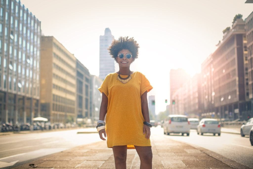 short curly hairstyles for black women: elevated fro