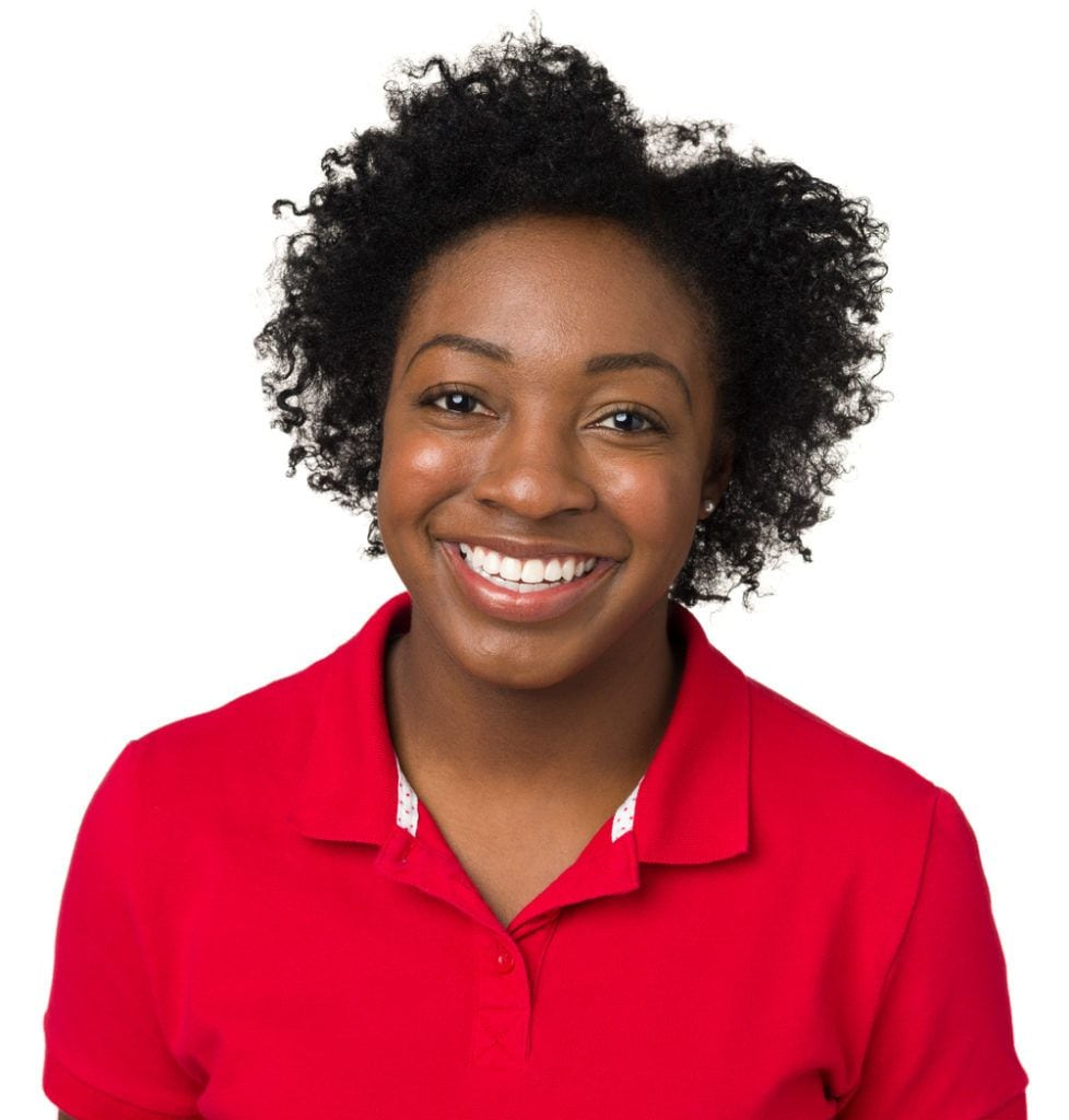 short curly hairstyles for black women: parted afro
