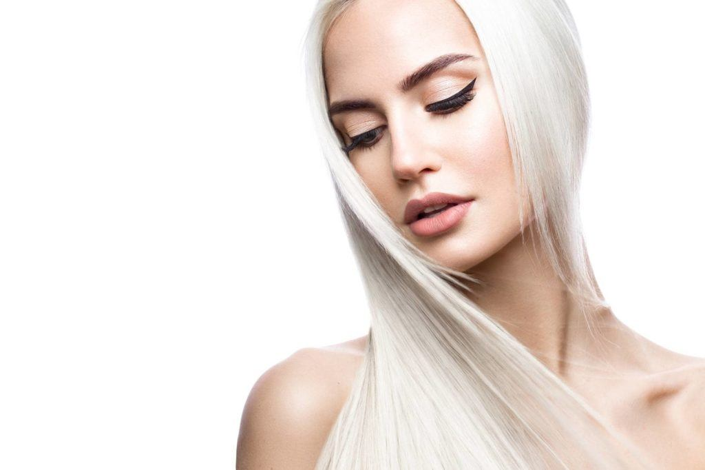 cute hairstyles for straight hair platinum hair