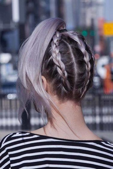 under braid hairstyles upside down pony