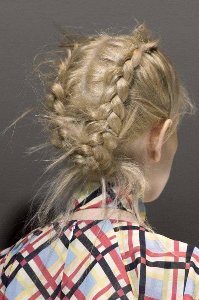 Wedding updos for medium hair 10 classy looks to try double french braids junglespirit Choice Image