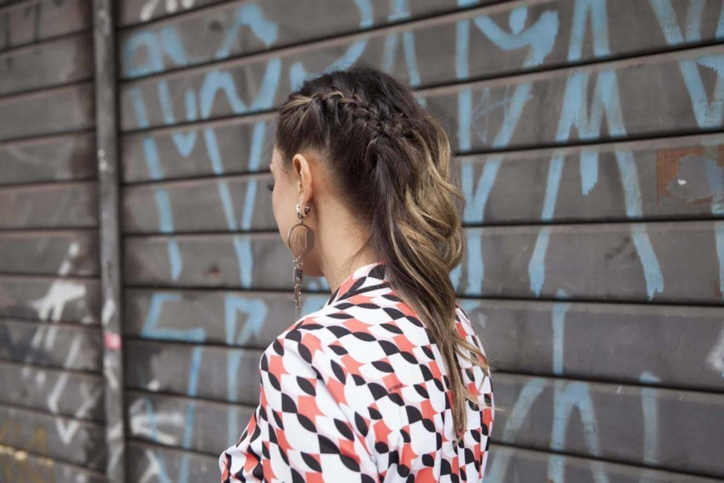 easy hairstyles for medium hair: side braid