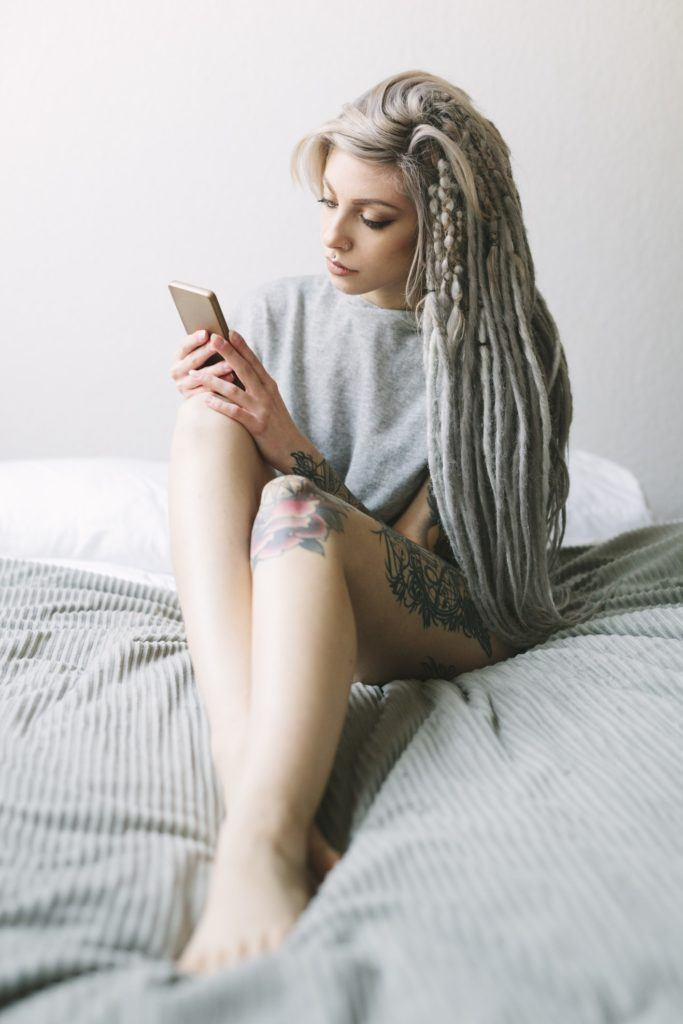 grey ombre hair long dreads braids