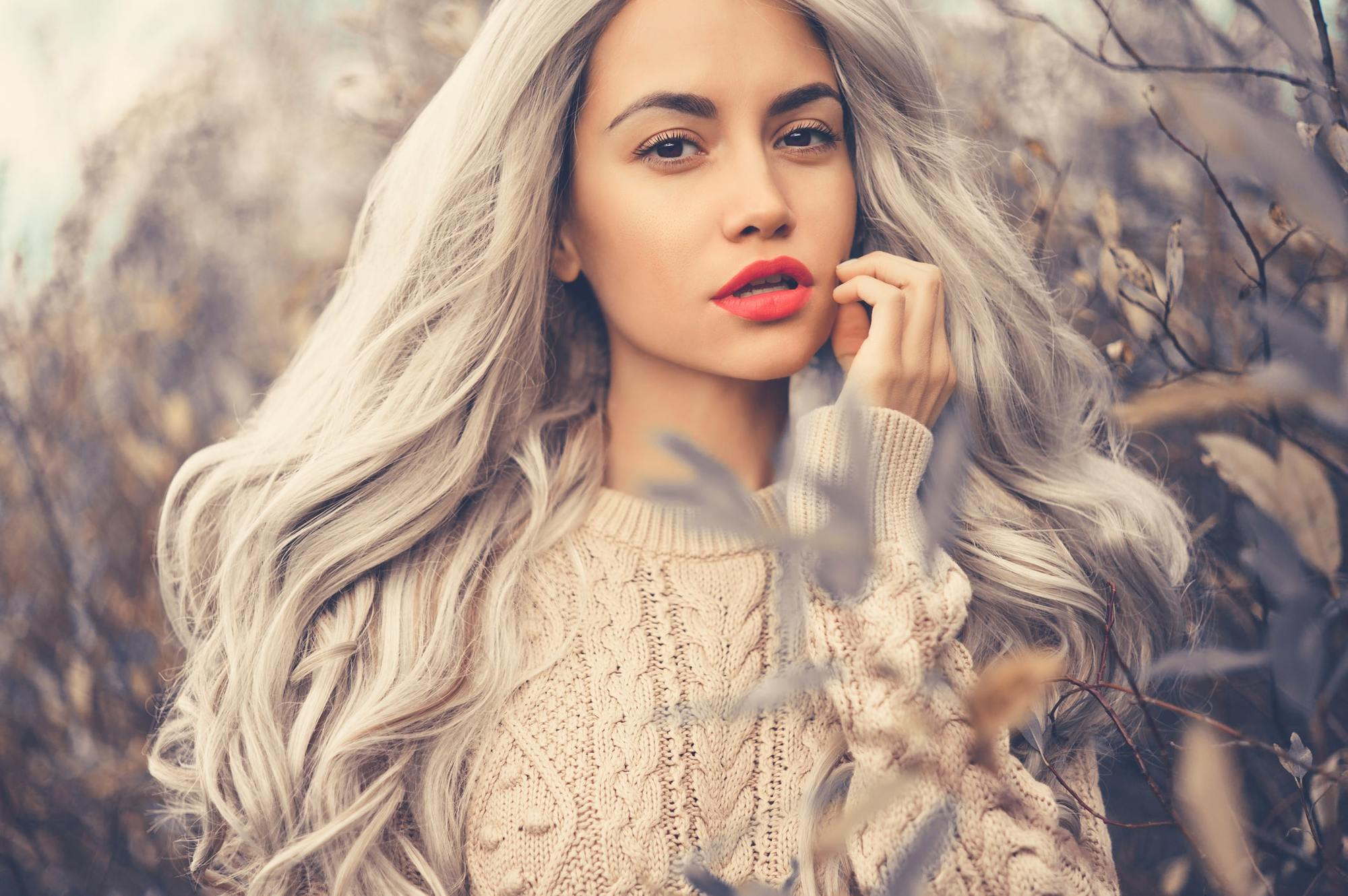 grey ombre hair long grey curls rooted
