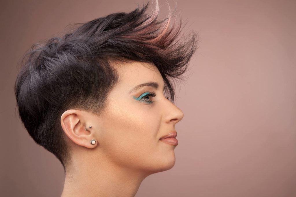 hair color ideas for short hair: baby pink