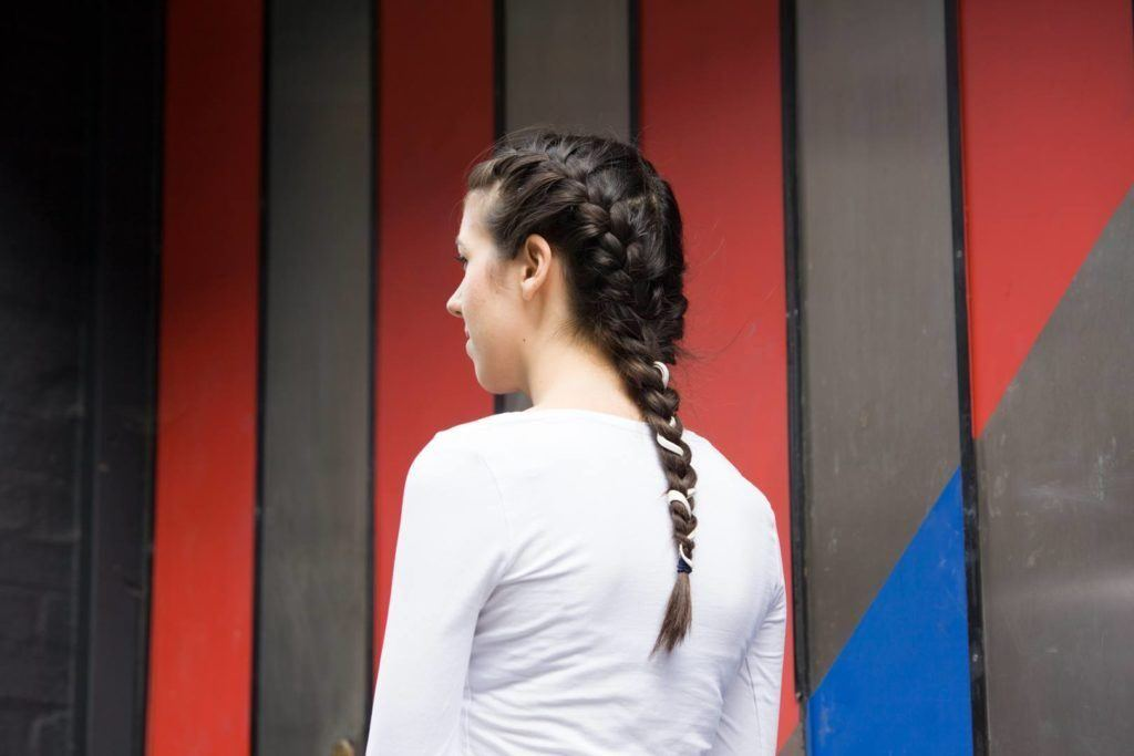 hairstyles for athletes: French braid