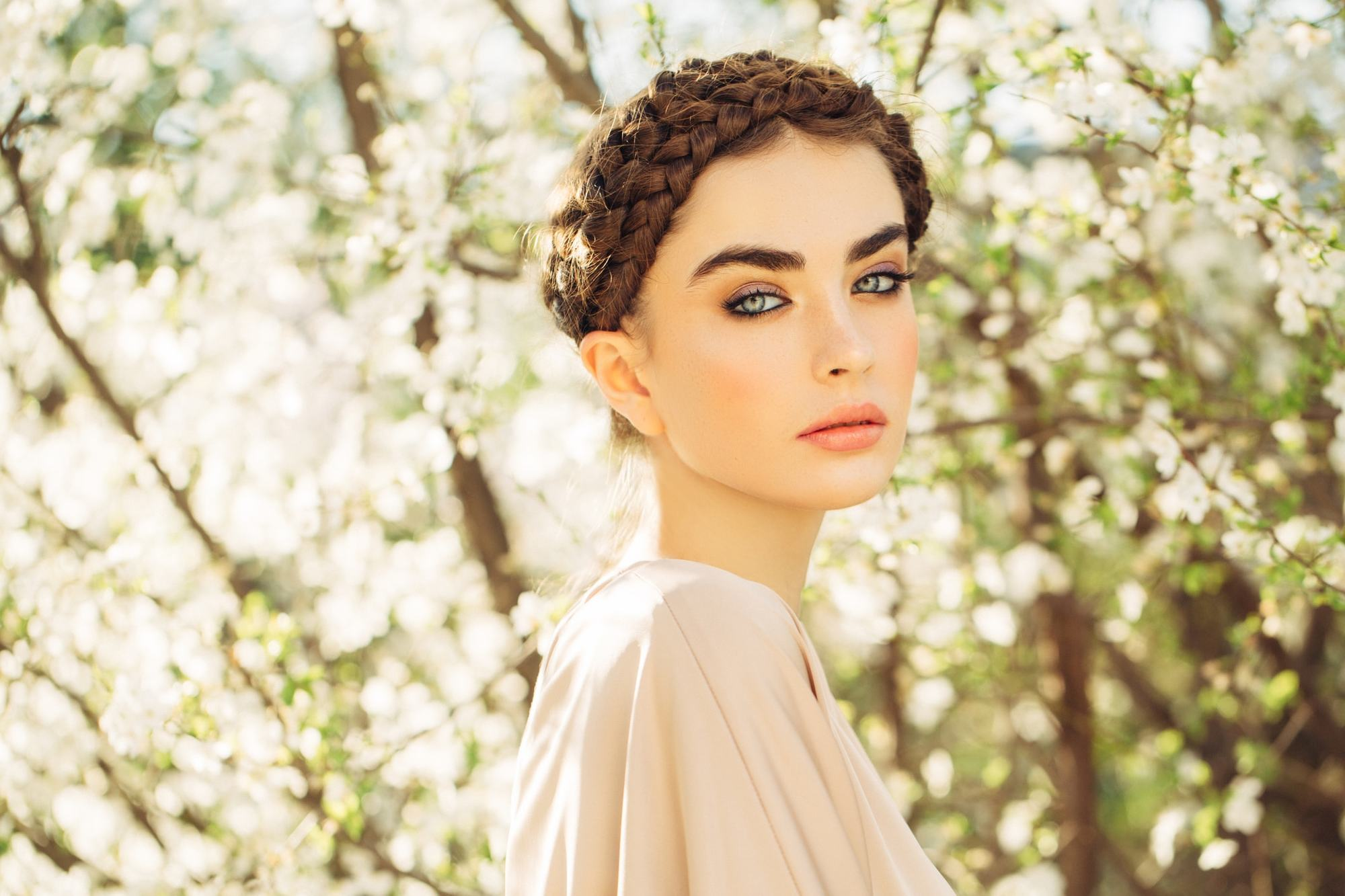 hairstyles for long brown hair double halo braid