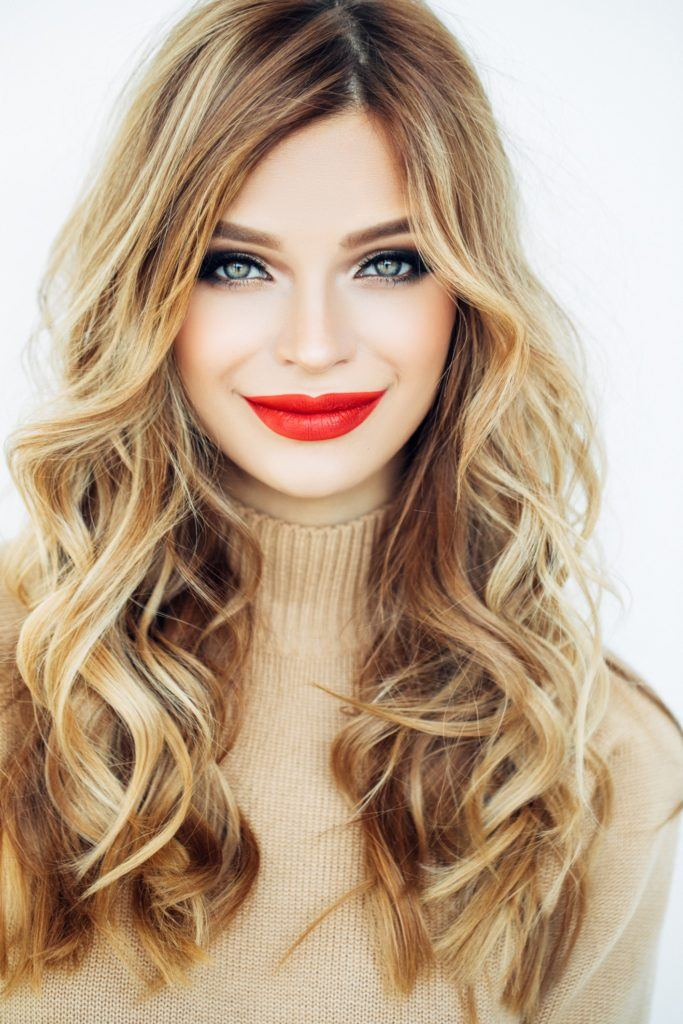 highlights and lowlights volumized curls