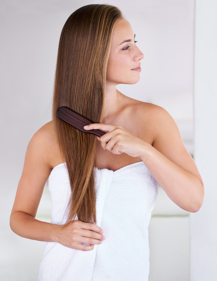 long hair with highlights subtle