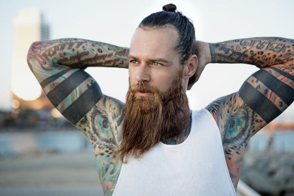mens medium to long hairstyles classic man bun