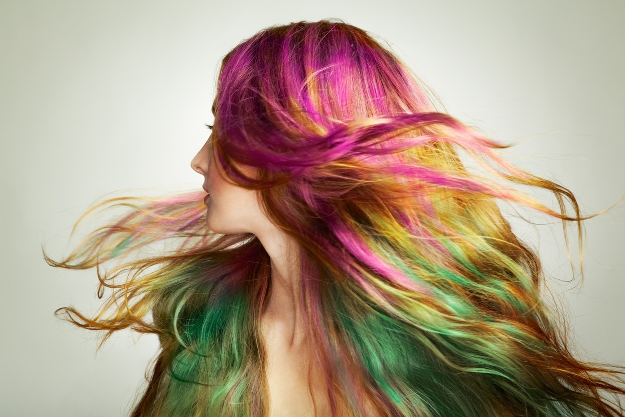 Rainbow Hair Color 14 Magically Colorful Styles To Try Out