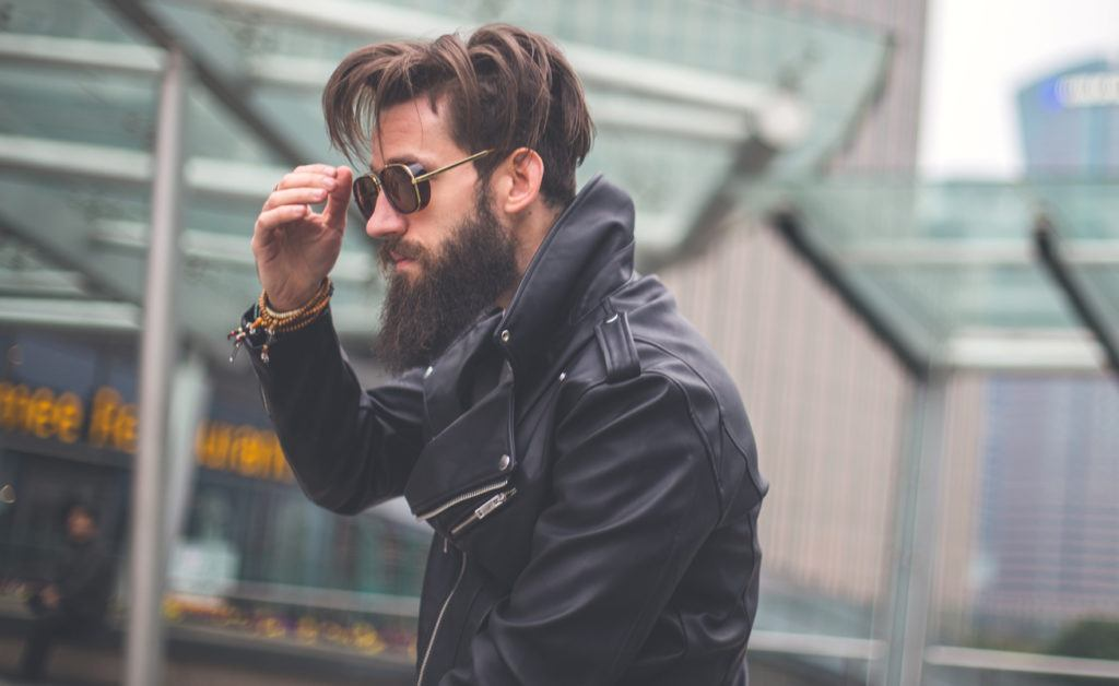 medium hairstyles for men with thick hair: edgy cut