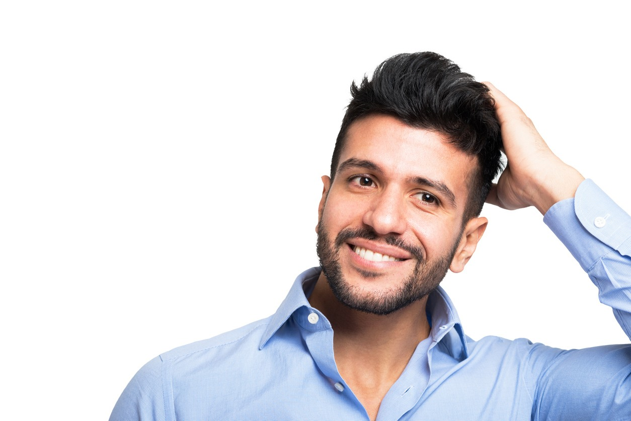 medium hairstyles for men with thick hair: quiff