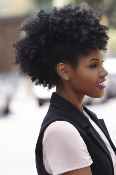 mohawk hairstyles for black women: twist out