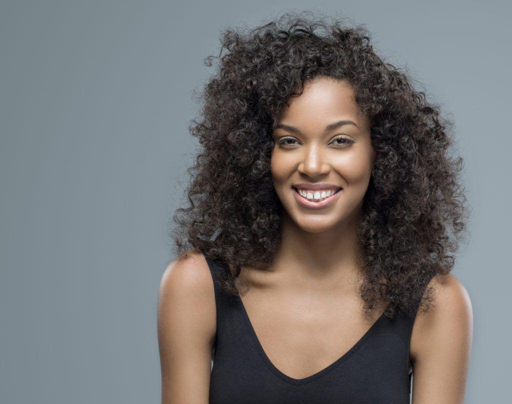 roller set on natural hair: big hair