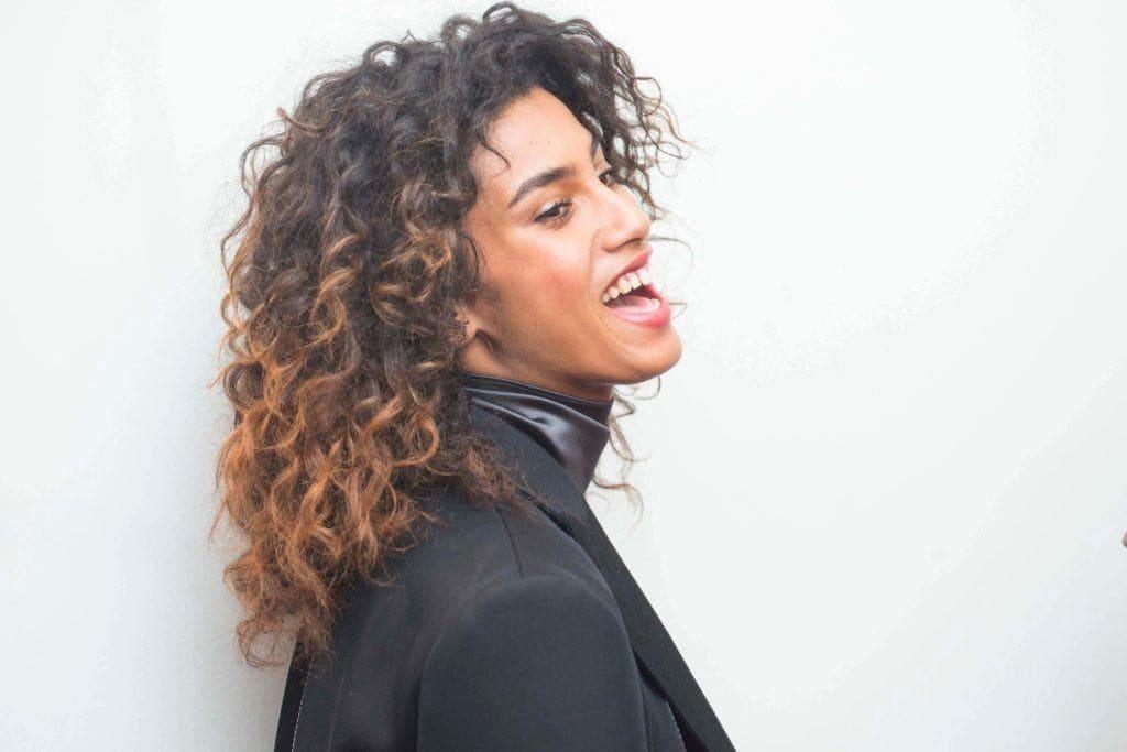 black hair types: wavy ombré