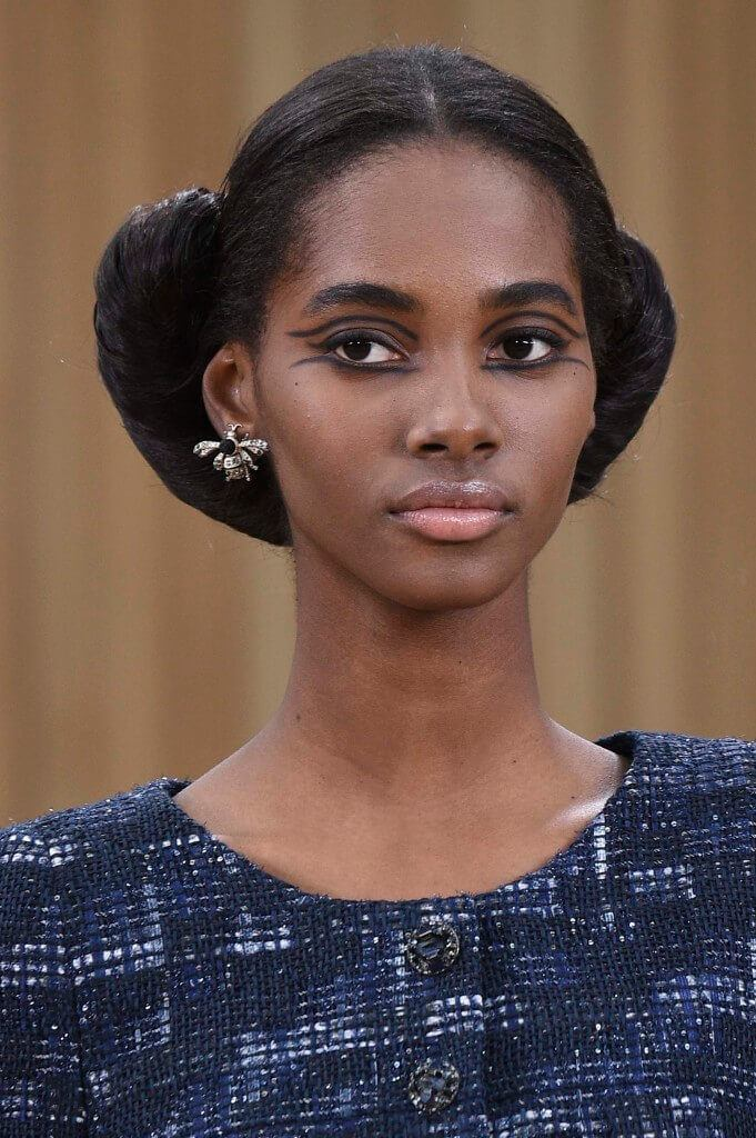 black prom hairstyles: chignon