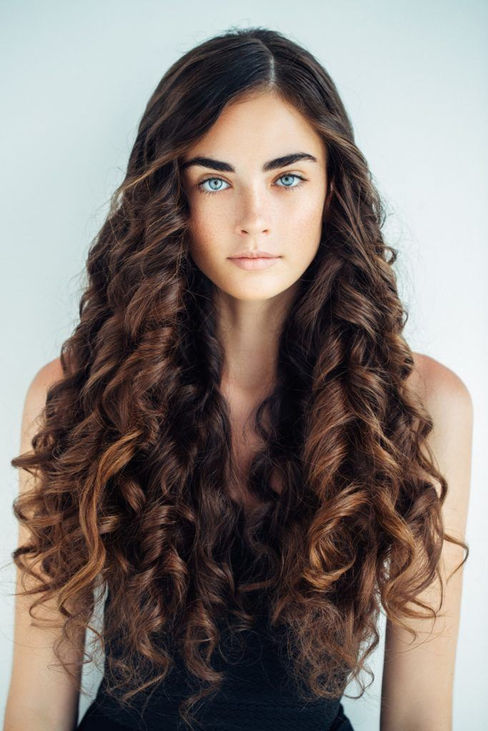 curly hairstyles for long hair tight curls ringlets