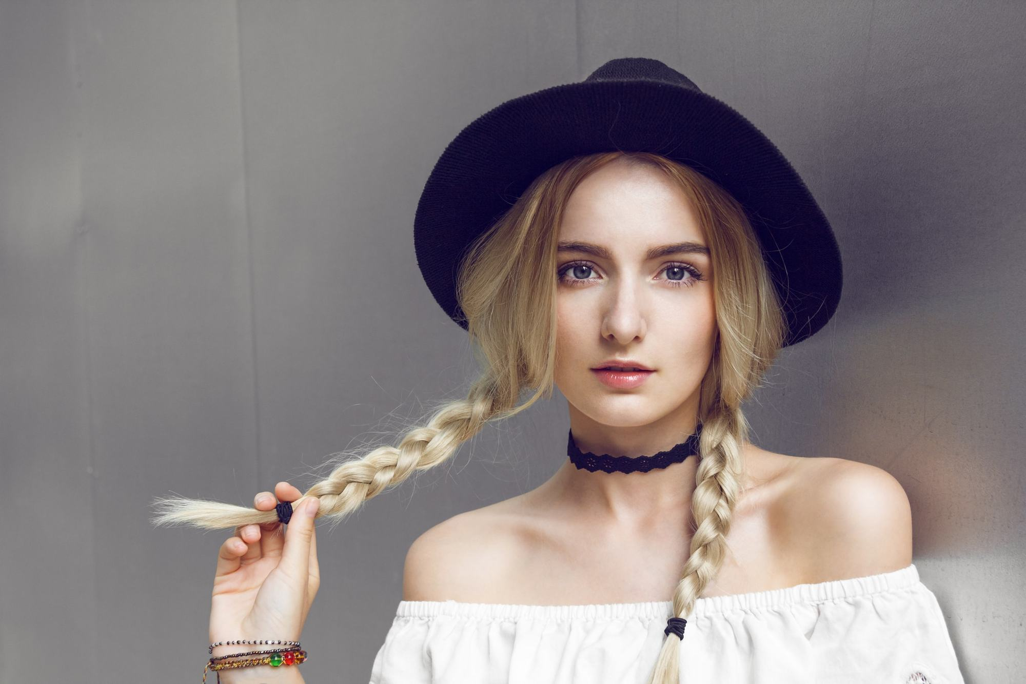 hairstyles for greasy hair braided pigtails