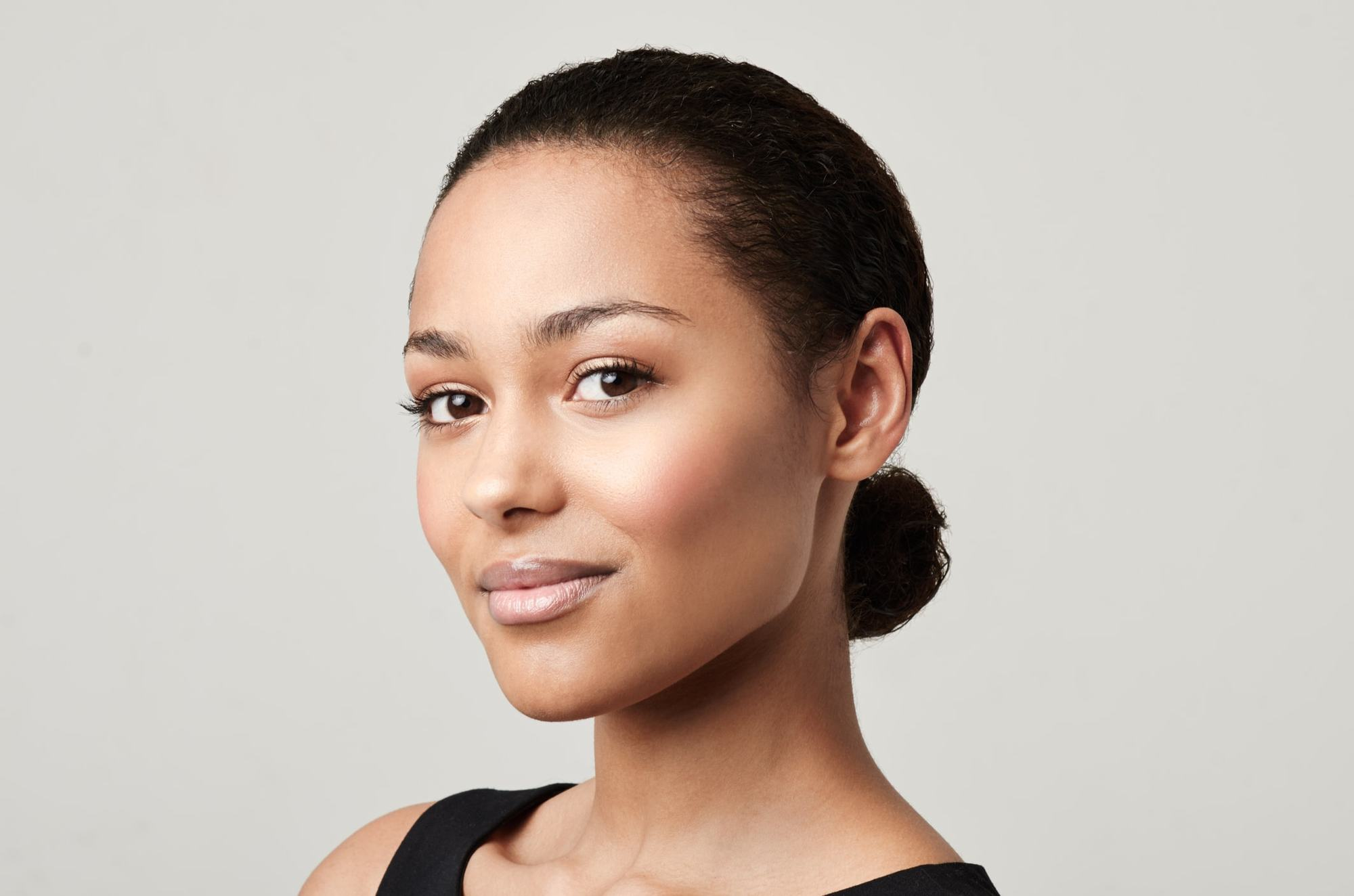 hairstyles for greasy hair brushed back bun