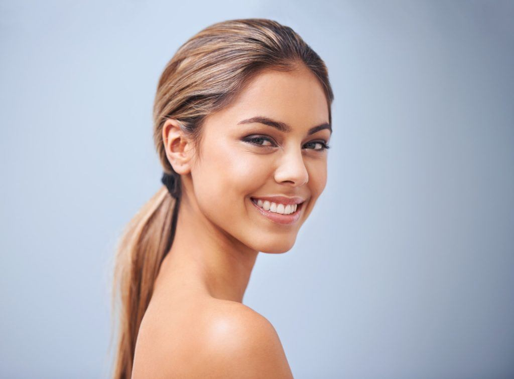 hairstyles for greasy hair sleek low pony