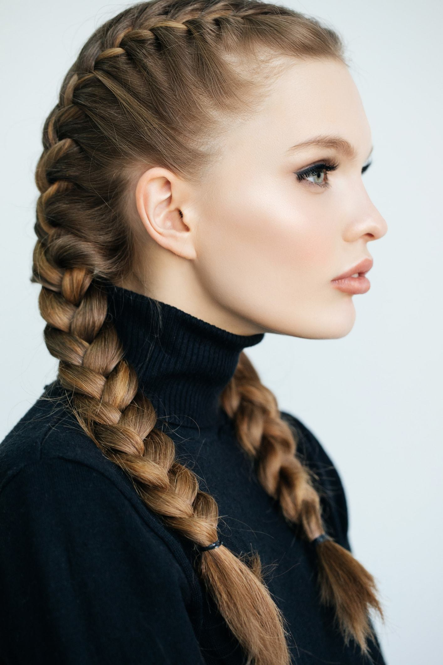 hairstyles for greasy hair tight French braids