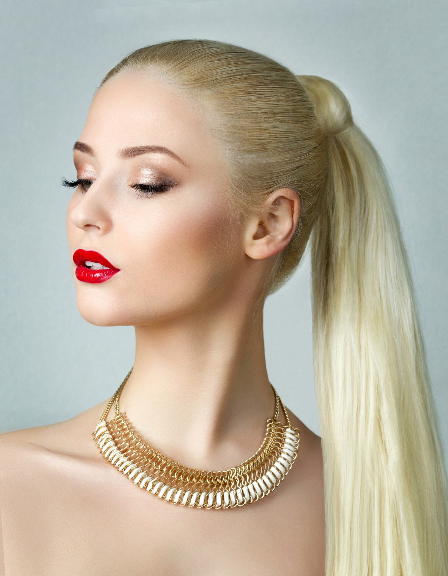 hairstyles for greasy hair wrapped ponytail