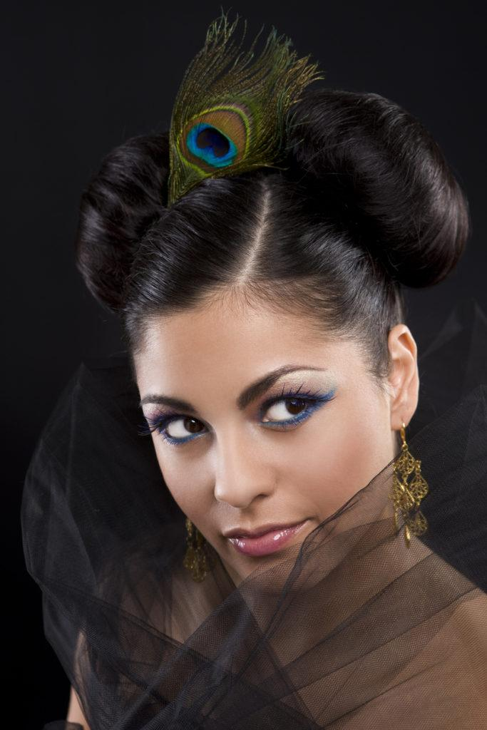 indian wedding hairstyles space buns