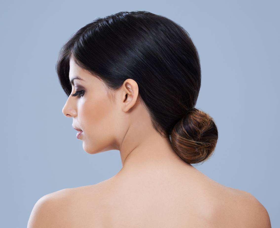 prom updos for long hair tight low bun