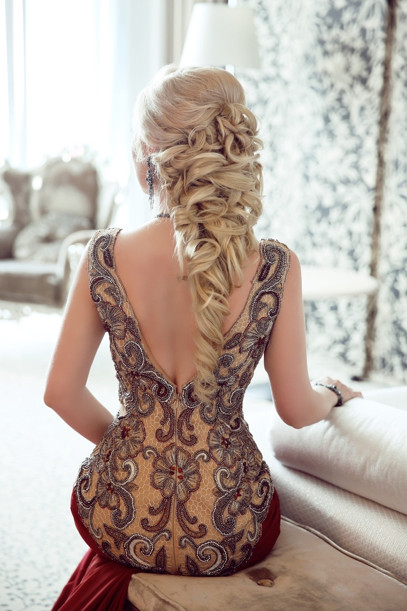 half up half down prom hairstyles twisted curls