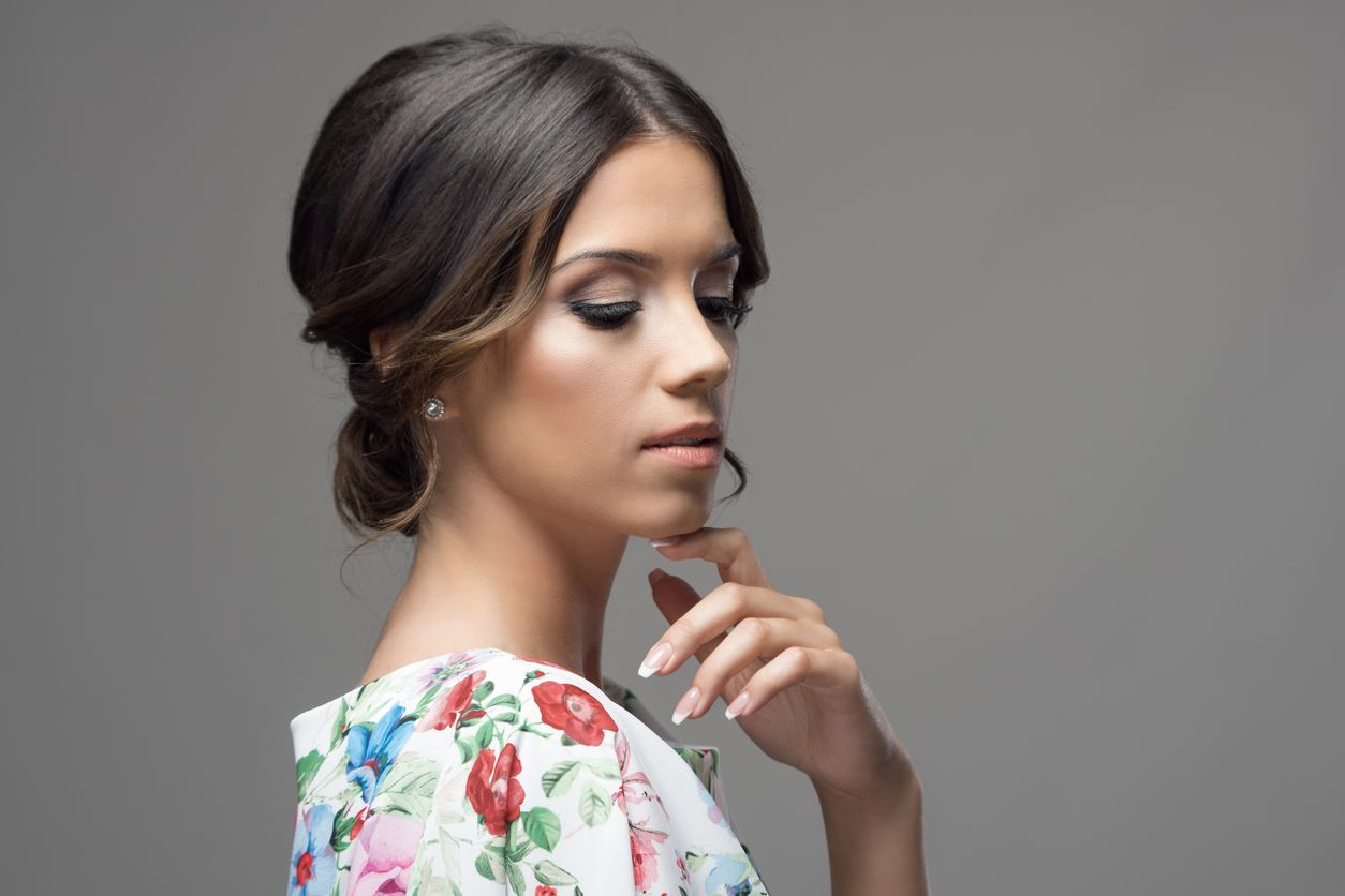 prom updos for long hair loose curtain bangs