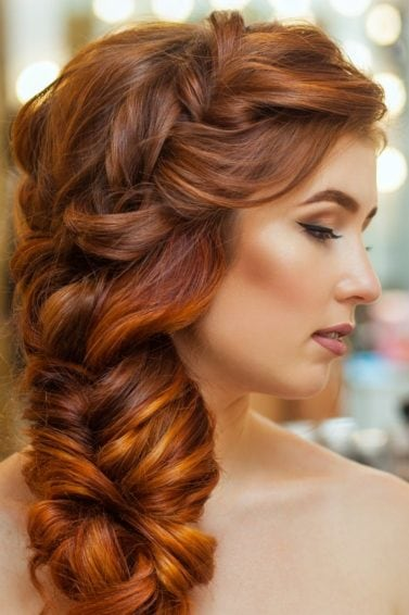 side hairstyles voluminous side braid