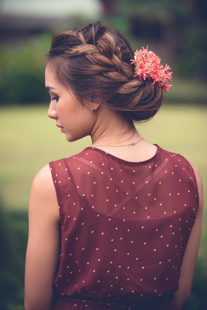 prom updos for long hair large halo braid