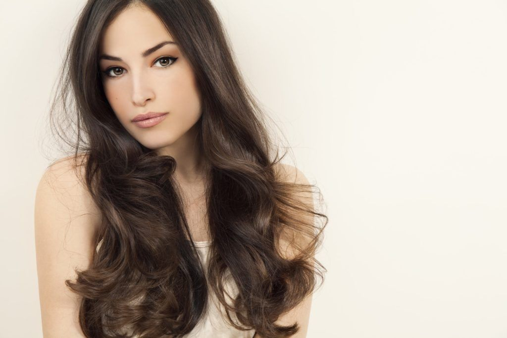 long hair with short layers blown out brunette