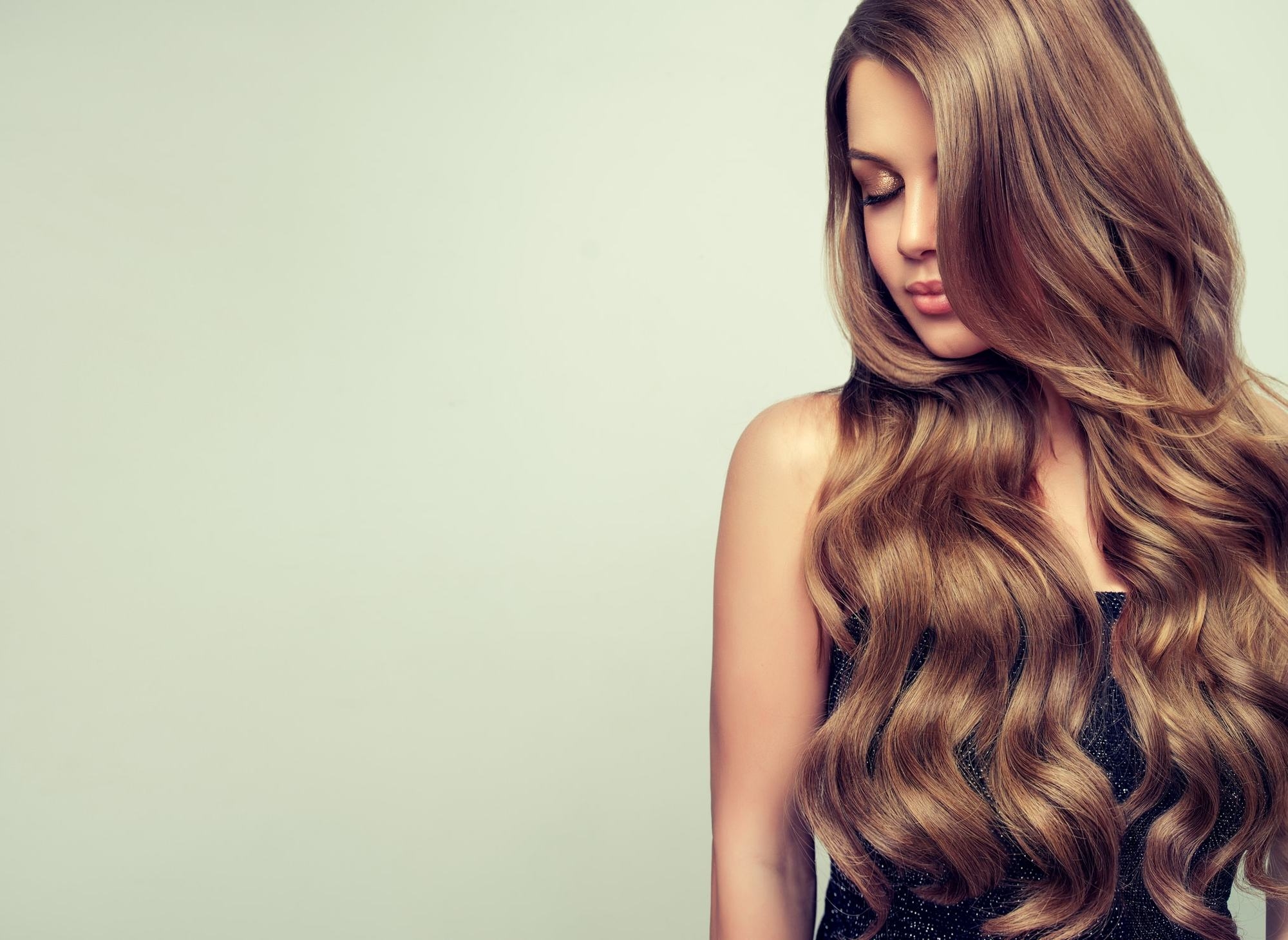 long hair with short layers long light brown curls